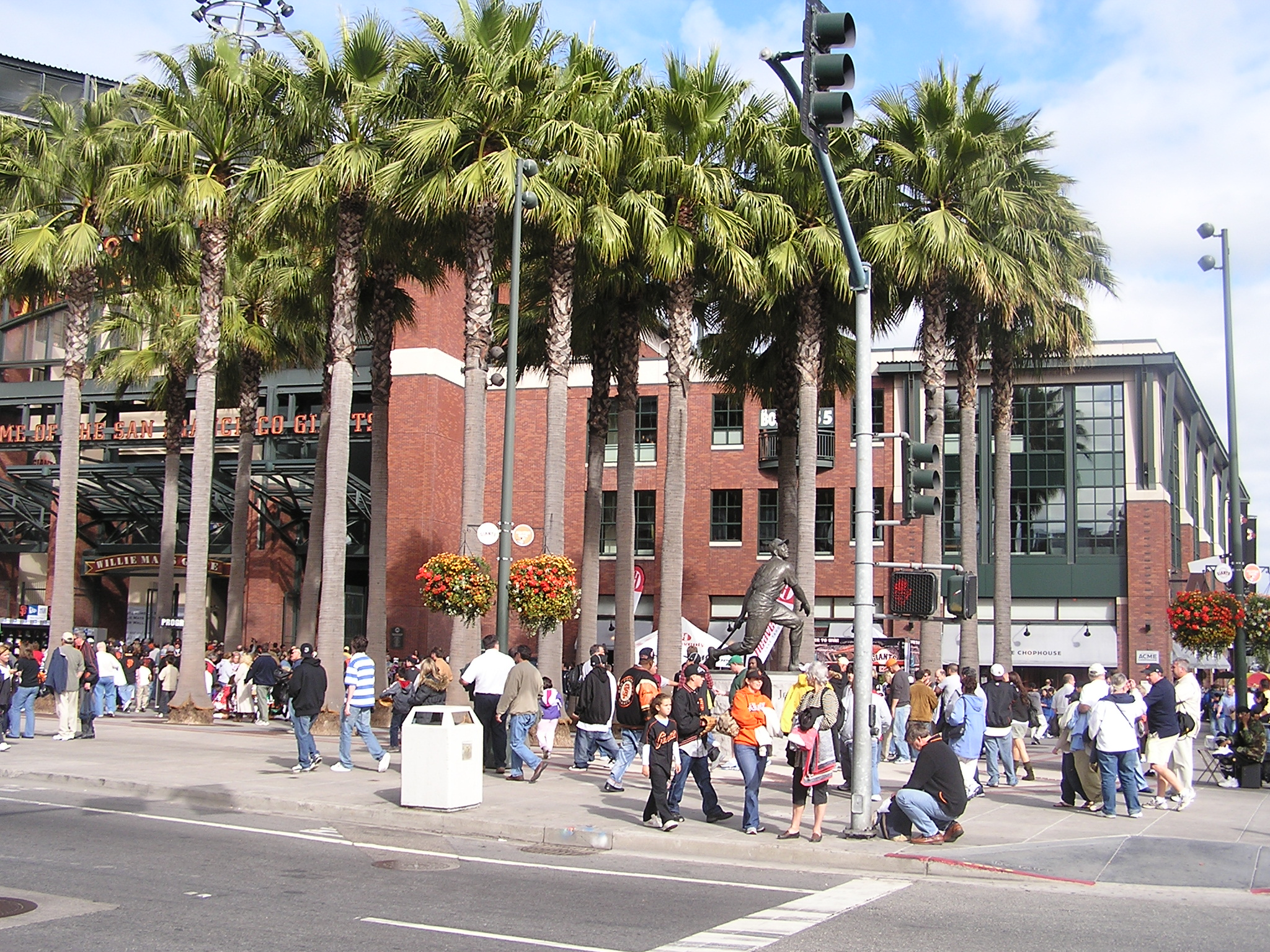 Meet at the Willie Mays statue ay AT&T Park - SF
