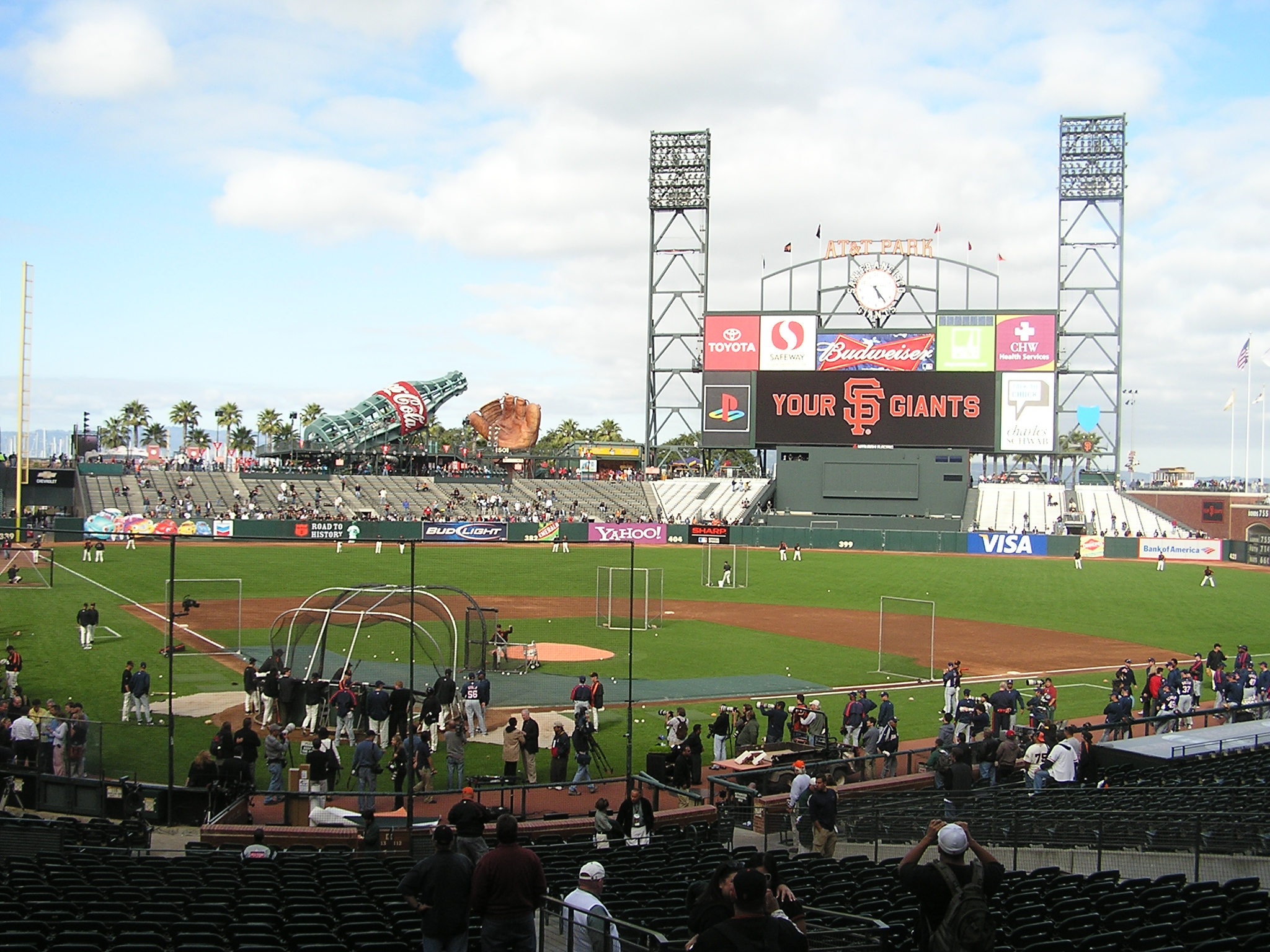 Batting Practive - AT&T Park, San Francisco