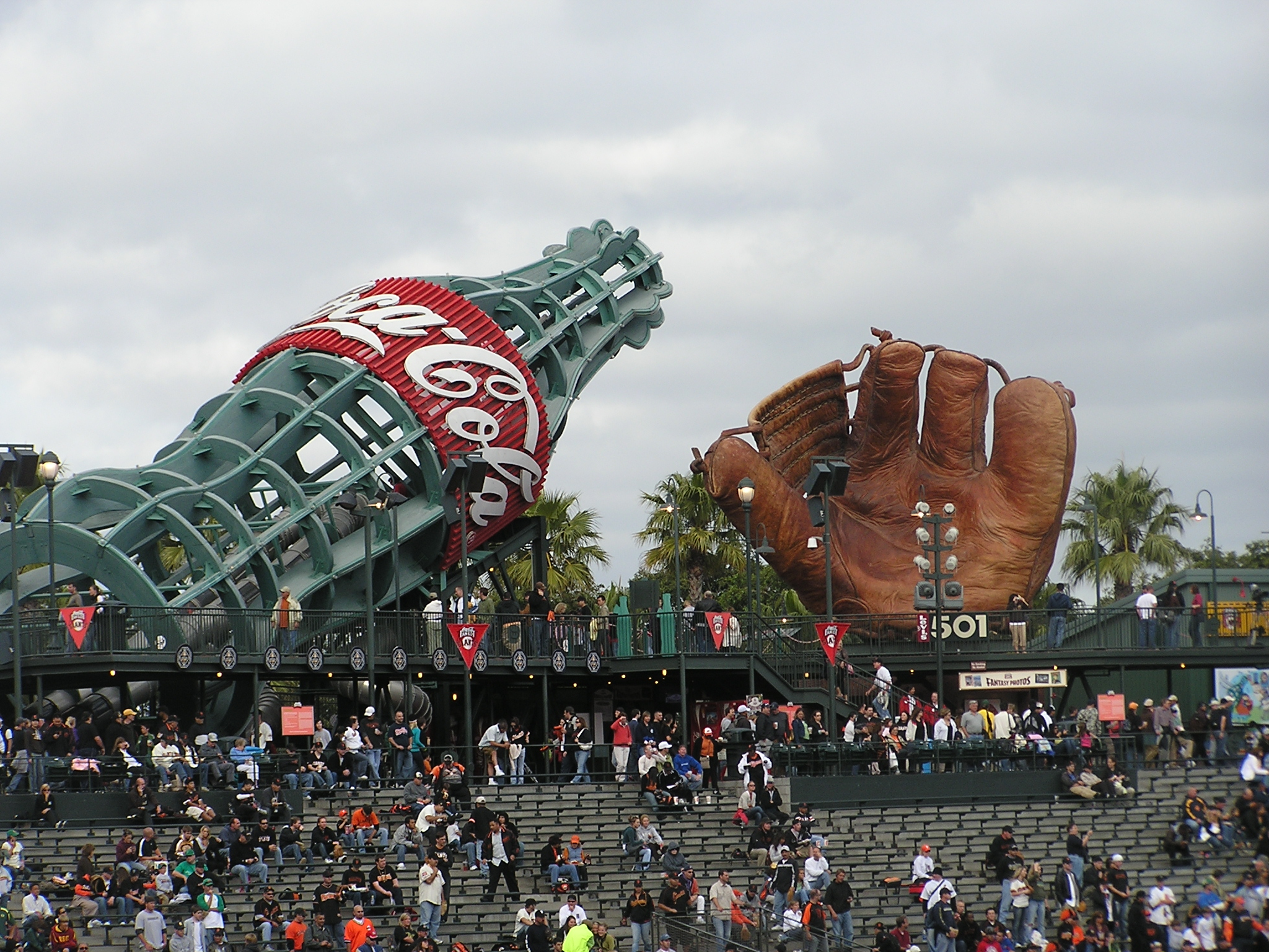 The Coke Bottle slide and Glove - AT&T Park