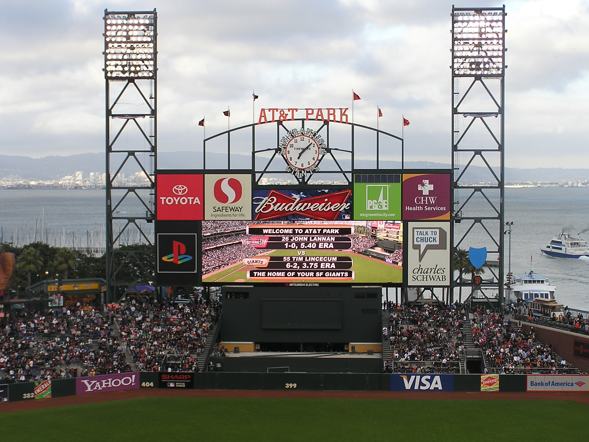A beautiful scoreboard - AT&T Park, San Francisco