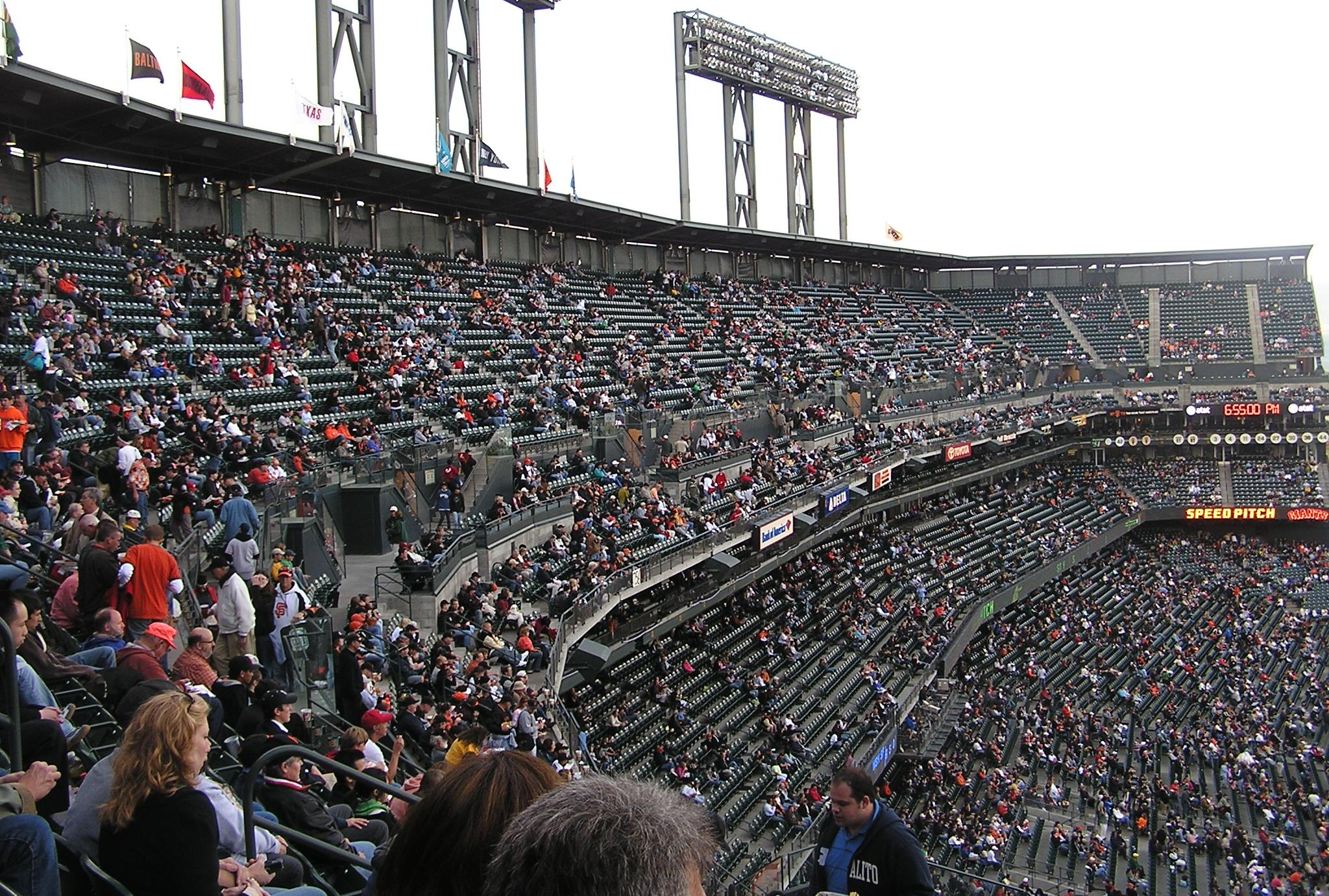 Looking at the 3rd base stands - AT&T Park